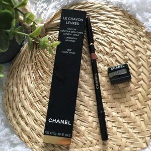 JUST IN Chanel Longwear Lip Pencil 162 Nude Brun